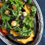 Roasted Acorn Squash with Arugula Salad-6