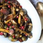 Balsamic Roasted Brussels Sprouts with Pomegranate Seeds - web-4