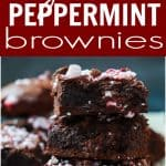 Peppermint Brownies Seen From the Side and From the Top