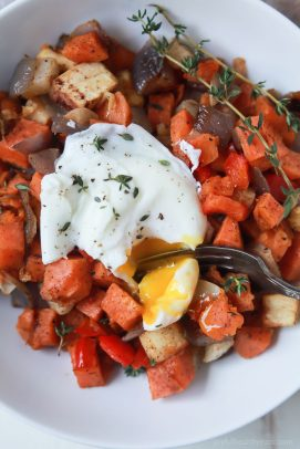 Easy Sweet Potato Hash with Eggs - web-7