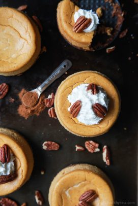 Skinny Mini Pumpkin Cheesecake with Pecan Crust - web-4
