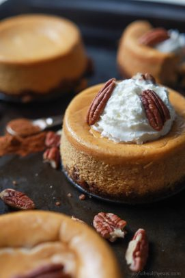 Skinny Mini Pumpkin Cheesecake with Pecan Crust - web-9