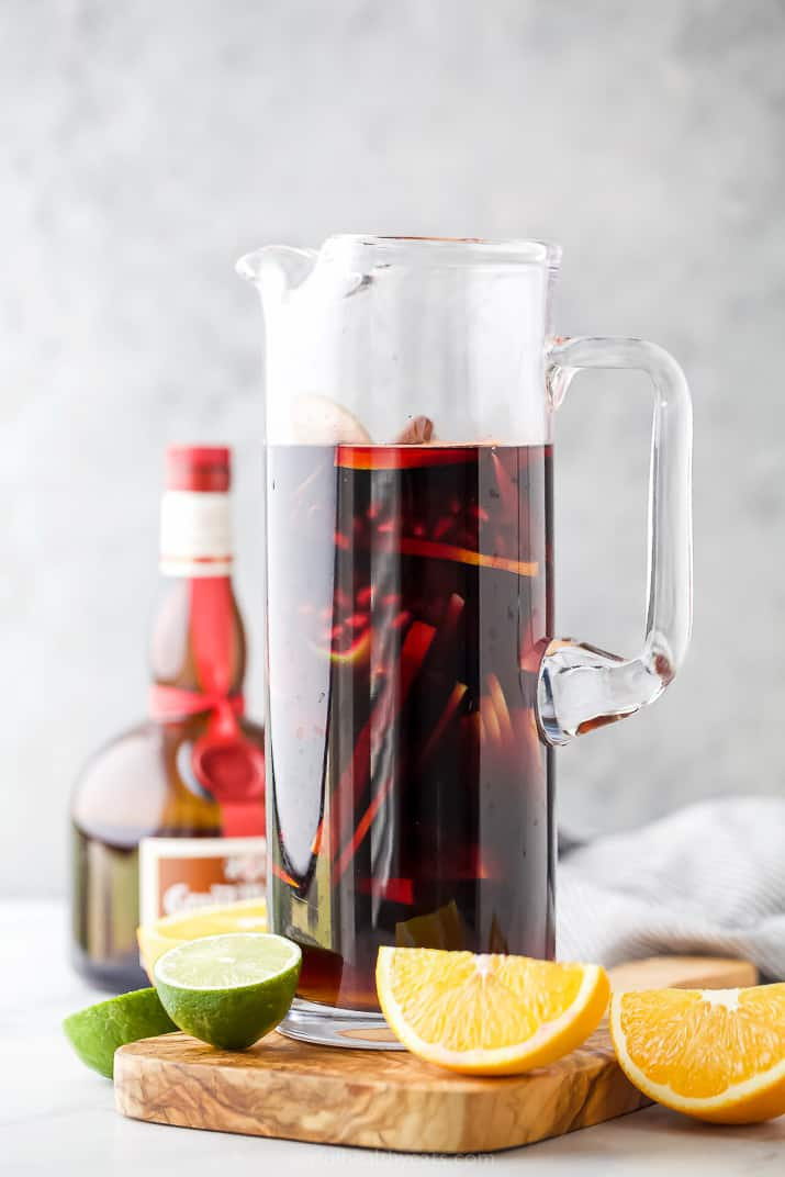 full pitcher of the ultimate holiday sangria