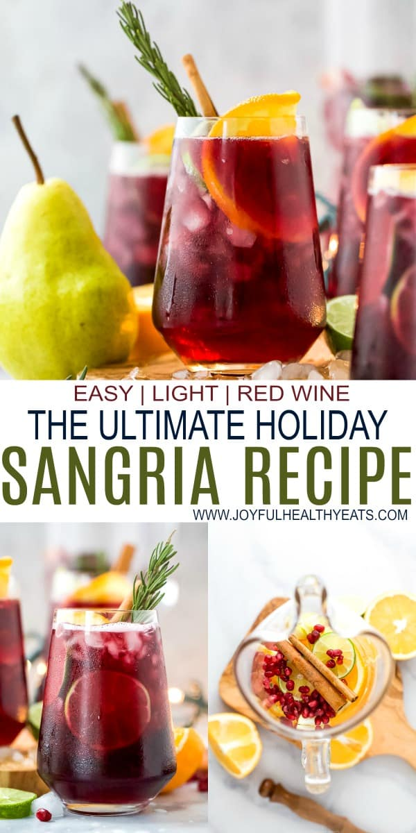 pinterest image for the ultimate holiday sangria recipe
