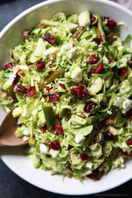 Asparagus & Brussel Sprout Salad with Honey Dijon Dressing - web-4
