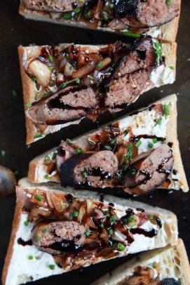 Balsamic Italian Sausage Crostini with Whipped Goat Cheese - web-5