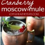 Pinterest image for Cranberry Moscow Mules