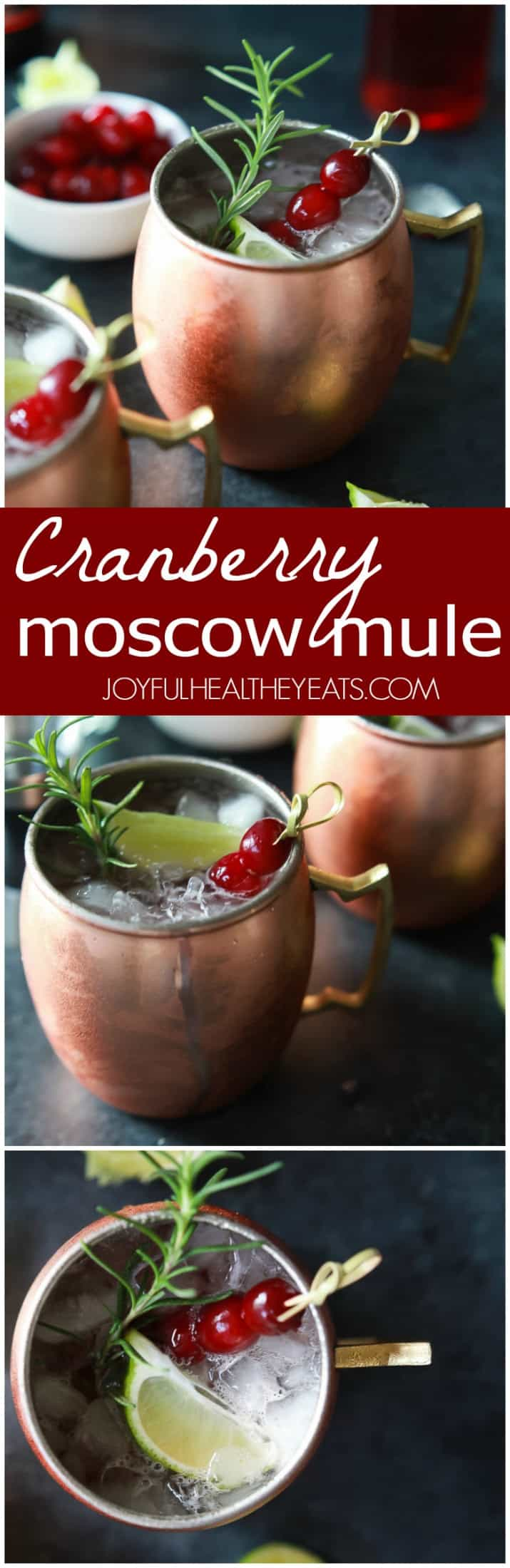 Collage for Cranberry Moscow Mule recipe