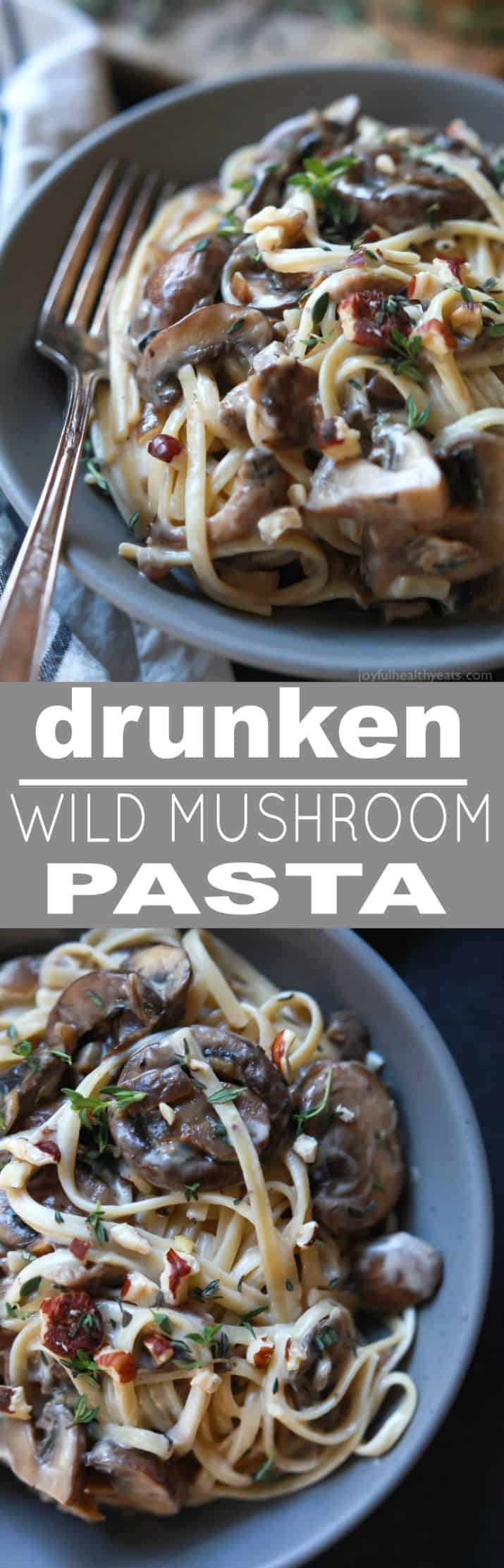 Title Image for Drunken Wild Mushroom Pasta