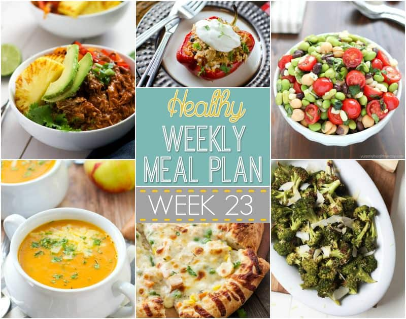 healthy meal plan week 23 easy healthy recipes using real