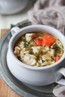 Light Lemon Chicken Orzo Soup - web-3