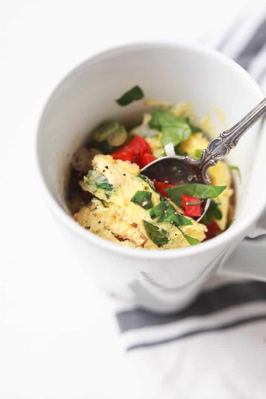 Egg omelet in a mug