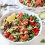 Blackened Shrimp Quinoa Bowl with Avocado Crema