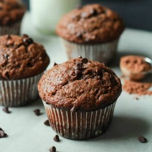 Double Chocolate Banana Muffins-fdgwker