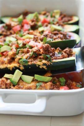 Ground Beef Enchilada Zucchini Boats - web-6