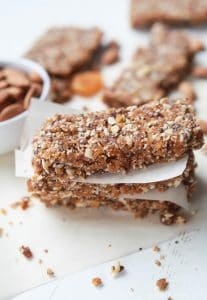Image of No Bake Apricot & Almond Energy Bars, Stacked