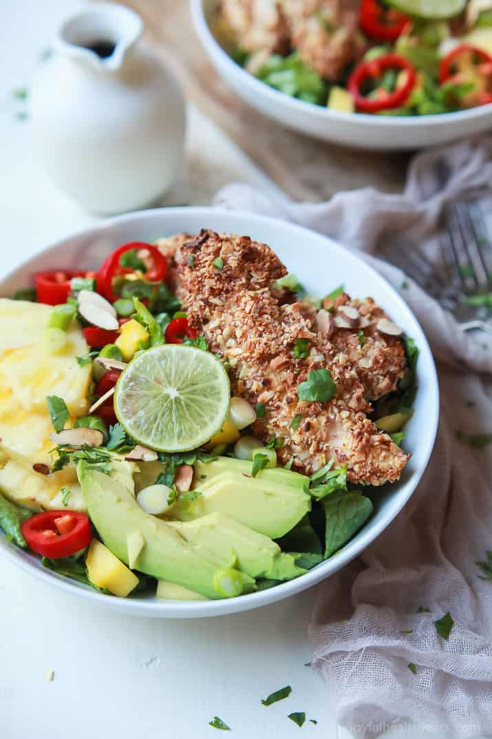 Tropical Coconut Chicken Salad with Honey Dijon Dressing ...