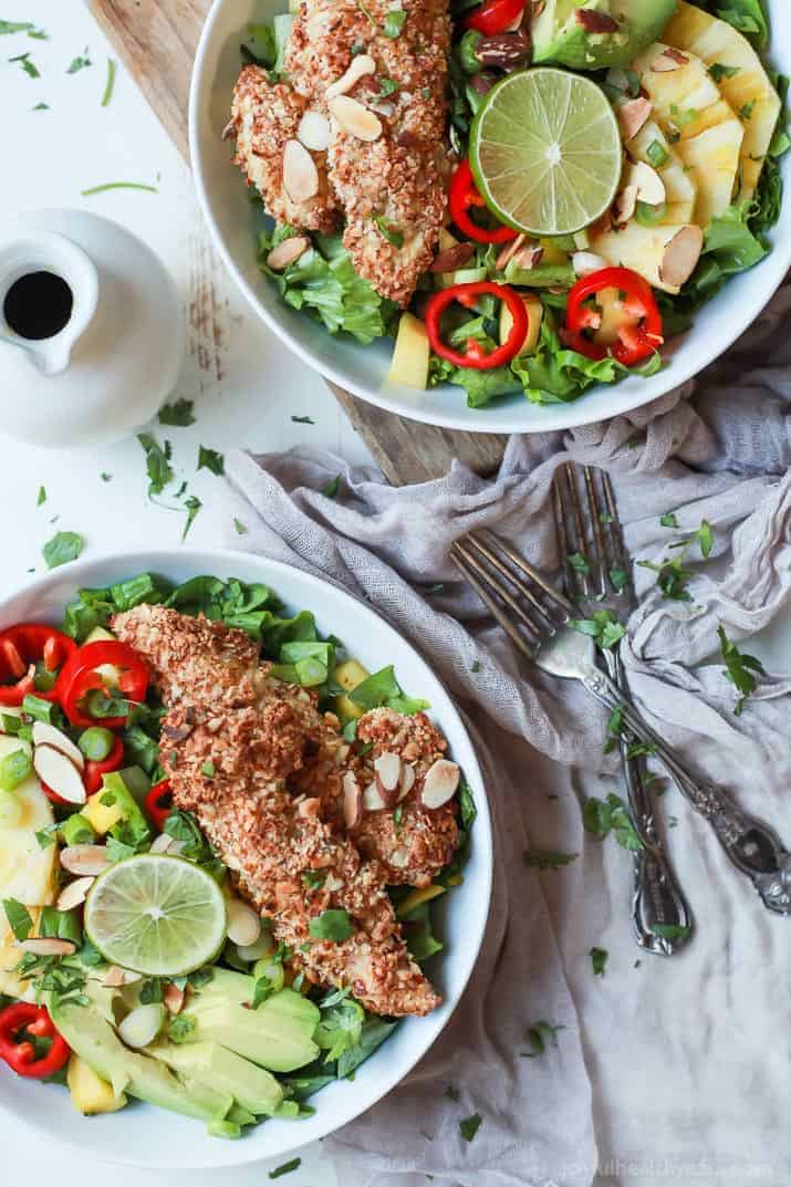 Tropical coconut chicken salad with honey dijon dressing easy change up your salad game with this tropical coconut chicken salad filled with fresh exotic fruits forumfinder Images