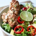 Tropical Coconut Chicken Salad with Honey Dijon Dressing - web-7