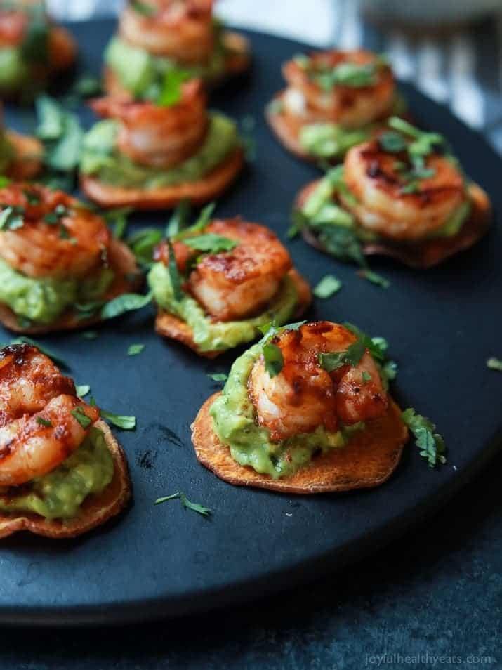 Magnificent Cajun Shrimp Guacamole Bites Easy Healthy Recipes Using Real Easy Diy Christmas Decorations Tissureus