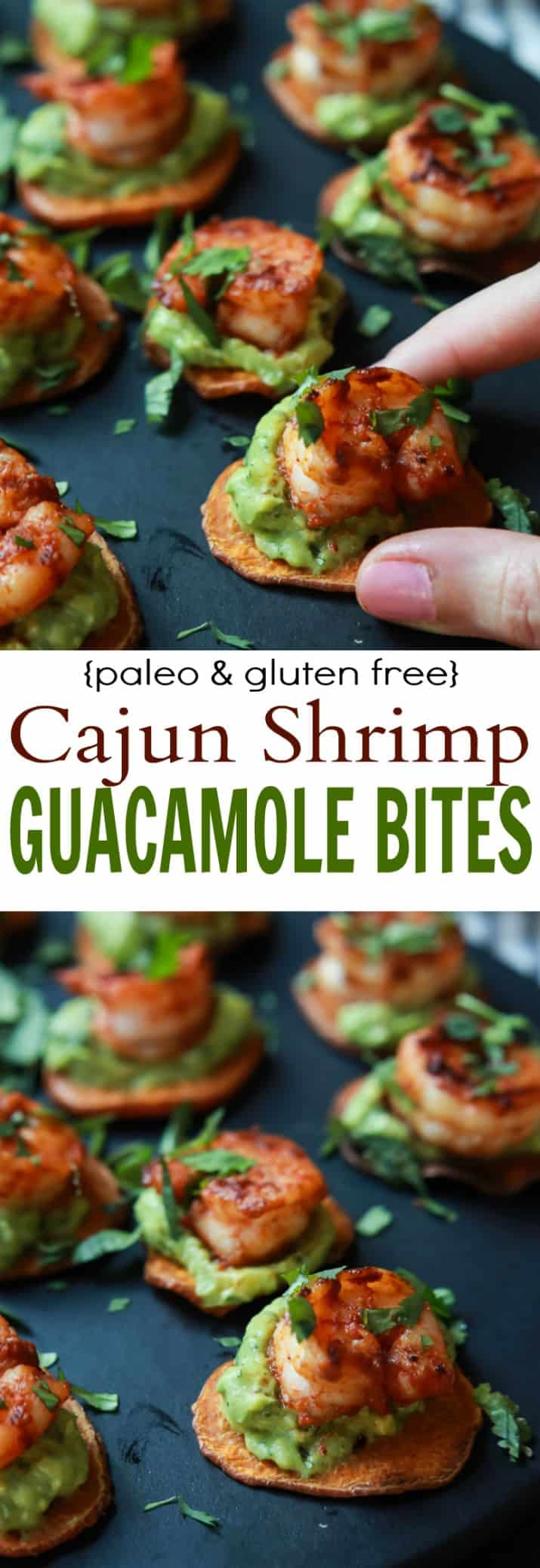 Cajun Shrimp Guacamole Bites, the perfect appetizer for your next game day party! Creamy, spicy, healthy, paleo, and delicious! | joyfulhealthyeats.com