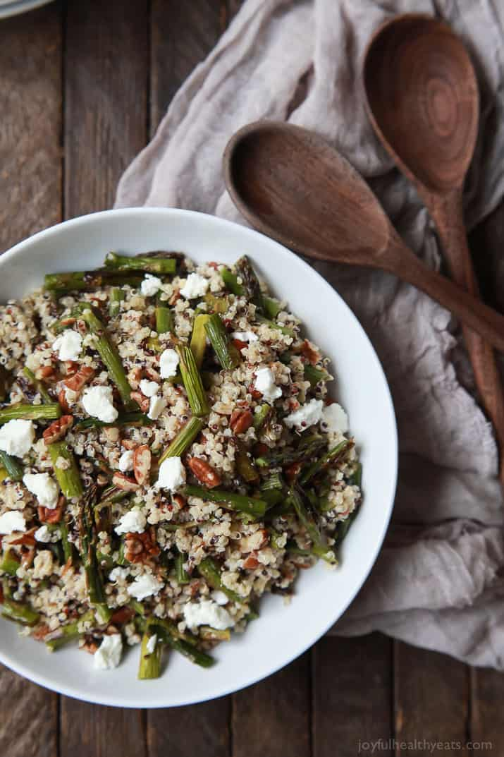 Creamy goat cheese asparagus quinoa salad easy healthy recipes creamy goat cheese asparagus quinoa salad easy dinner recipeseasy healthy forumfinder
