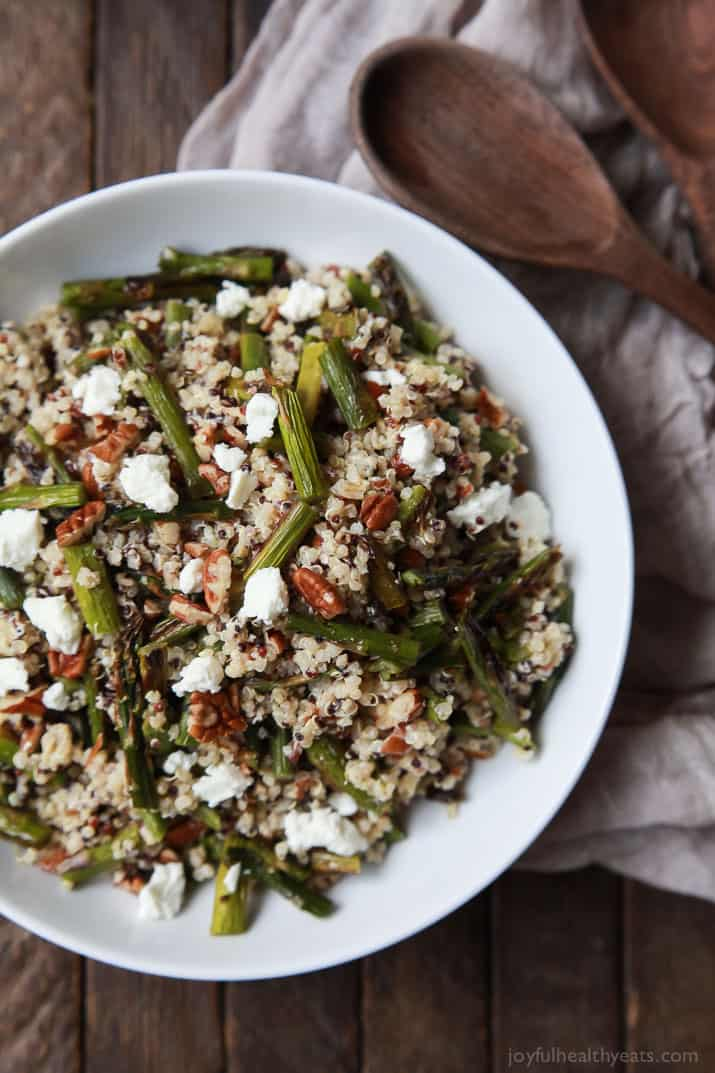 Creamy goat cheese asparagus quinoa salad easy healthy recipes creamy goat cheese asparagus quinoa salad loaded with delicious flavors your family will love forumfinder Images