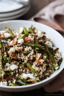 Creamy Goat Cheese Asparagus Quinoa Salad - web-5