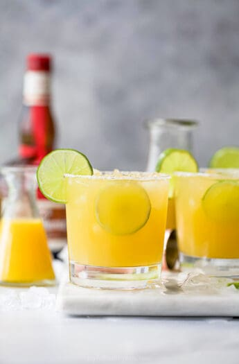 a photo of a glass filled with the ultimate classic margarita recipe