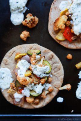 Moroccan Cauliflower Chickpea Pita with Tzatziki Sauce - web-2