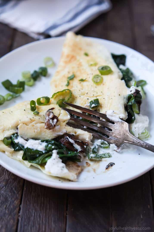 Mushroom Spinach Omelette Recipe | Easy Dinner Recipes | Quick Easy ...