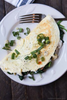 Image of Mushroom Spinach Omelette