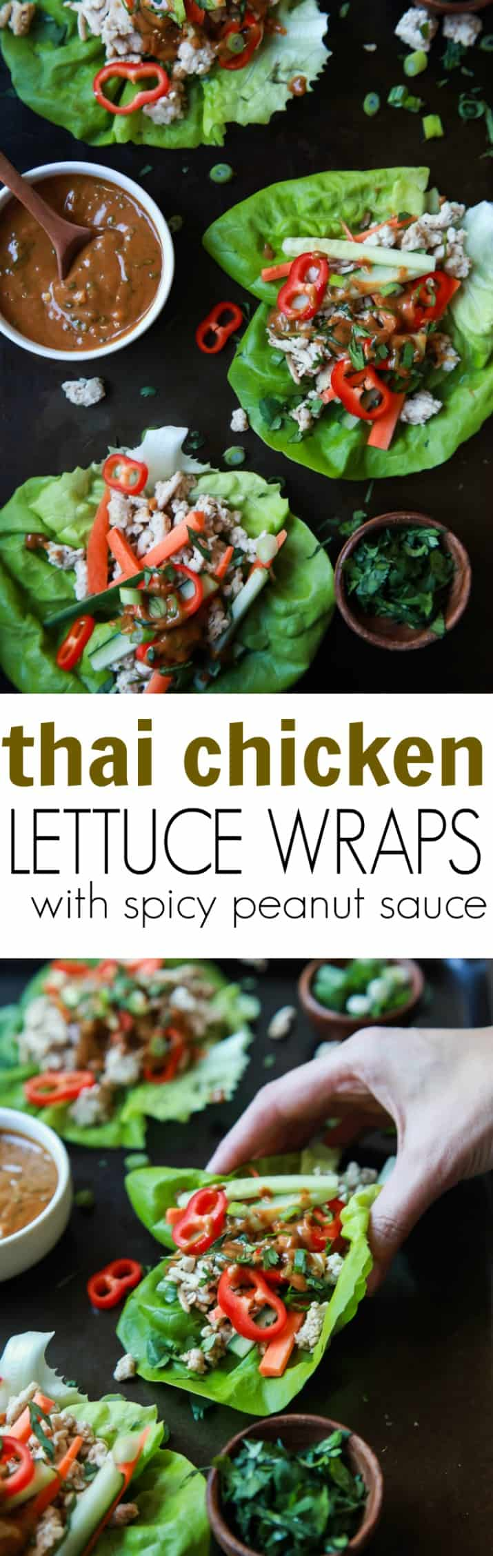 Thai Chicken Lettuce Wraps Easy And Healthy Appetizer Recipe