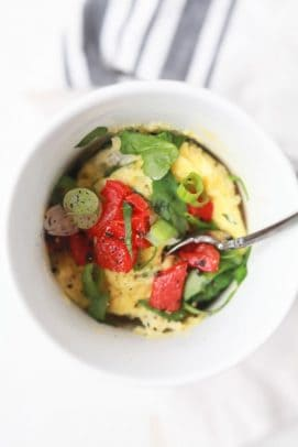 Image of a 2 Minute Egg Omelet in a Mug