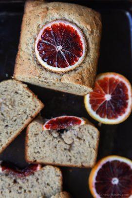 Easy Moist Blood Orange Poppy Seed Bread, full of bright orange flavor with hints of poppy seed in every bite. Hands down my favorite bread recipe!   joyfulhealthyeats.com Easy Healthy Recipes
