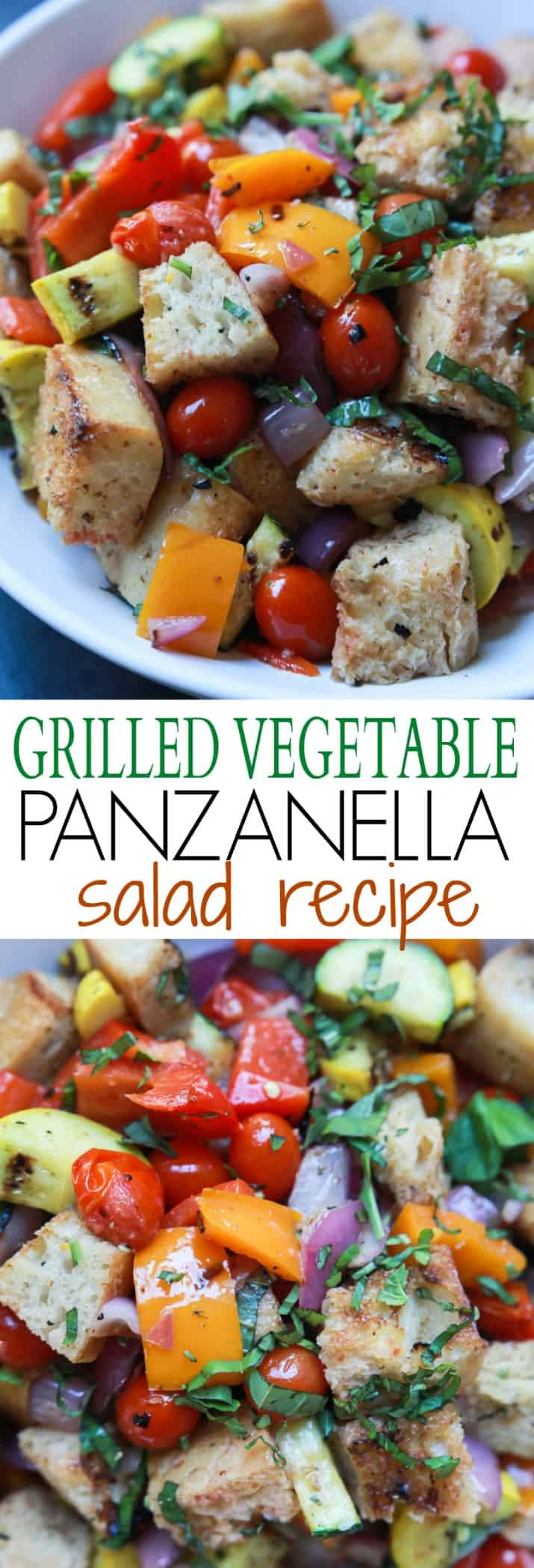Grilled Vegetable Panzanella Salad | Easy Dinner Recipes | Quick Easy ...