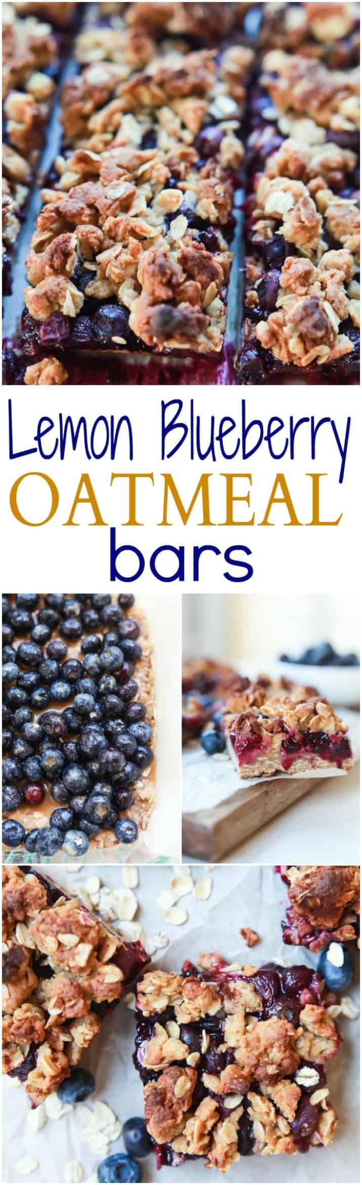 Blueberry lemon oatmeal bars