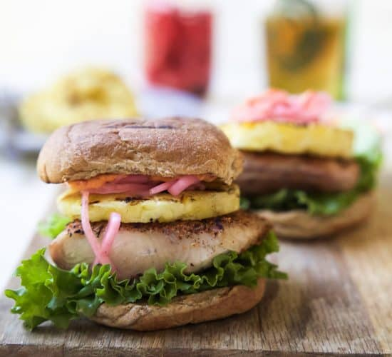 Image of Blackened Mahi Mahi Fish Burger