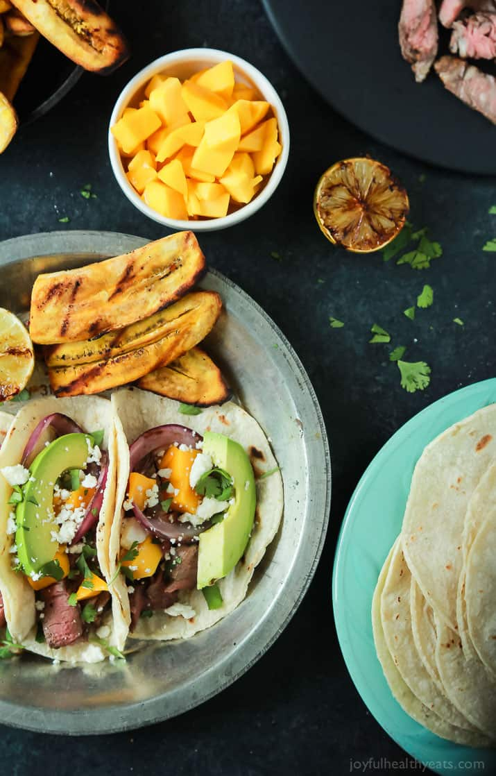 These Grilled Steak Street Tacos Are Filled With Tender Filet Mignon Fresh Mango Creamy