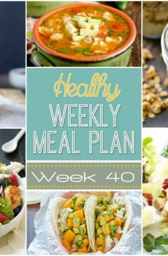 Make your life easier AND healthier! This healthy meal plan has a weeks worth of healthy recipes you can make for your family for breakfast, lunch, and dinner with a few snacks and desserts snuck in!   joyfulhealthyeats.com