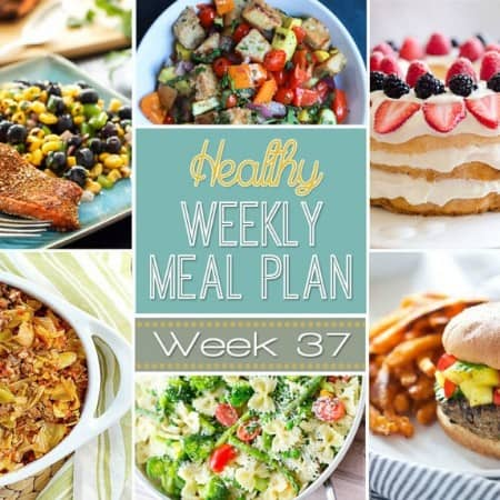 Make your life easier AND healthier! This healthy meal plan has a weeks worth of healthy recipes you can make for your family for breakfast, lunch, and dinner with a few snacks and desserts snuck in! | joyfulhealthyeats.com