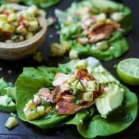 Southwestern Grilled Salmon Tacos with Pineapple Salsa