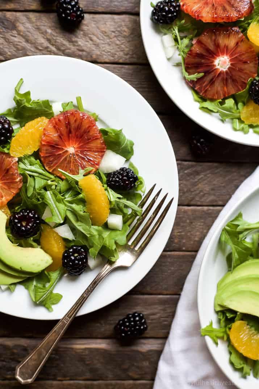 arugula salad with avocado citrus vinaigrette
