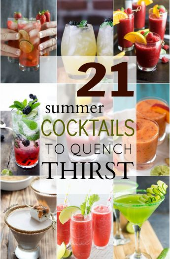 21 Cocktail Recipes that will Quench your Thirst this Summer! | joyfulhealthyeats.com