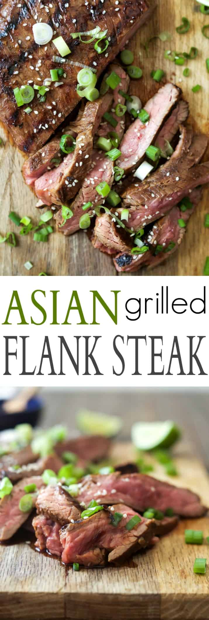 Pinterest image for Asian Grilled Flank Steak
