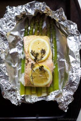 Image of Citrus Asparagus & Salmon in Foil