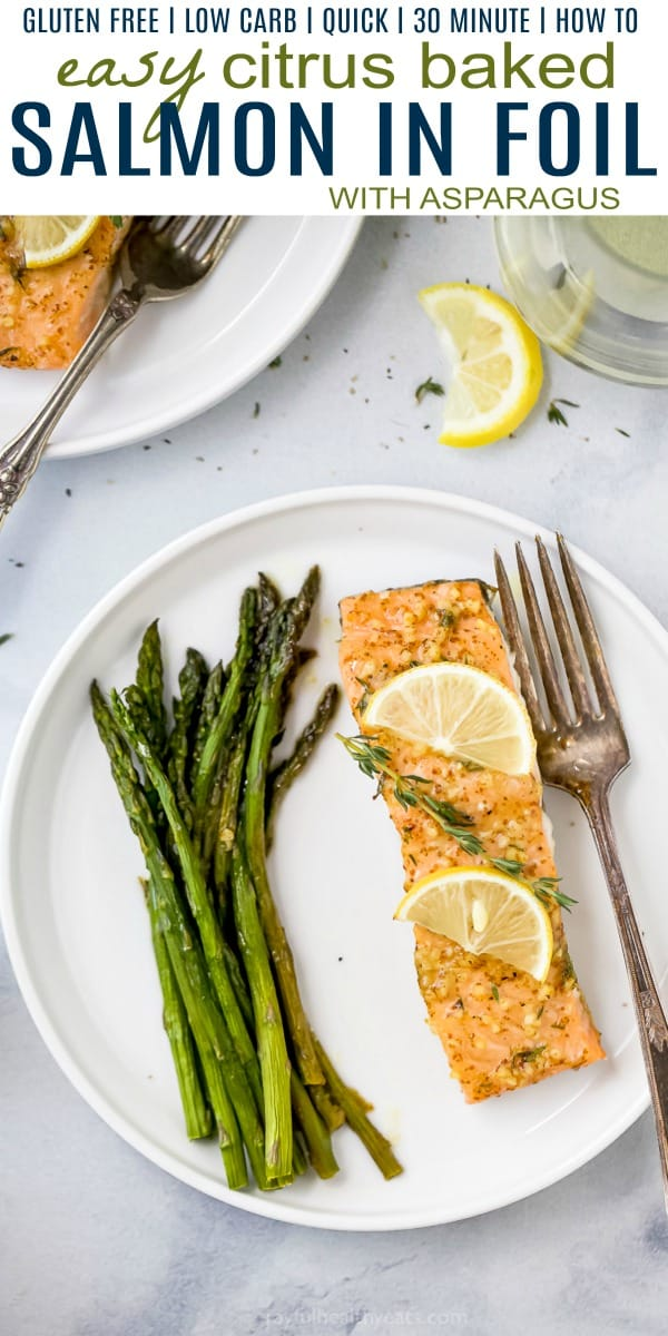pinterst image for citrus baked salmon in foil