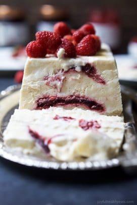 Easy Raspberry Amaretto Semifreddo   Summer Dessert Recipe