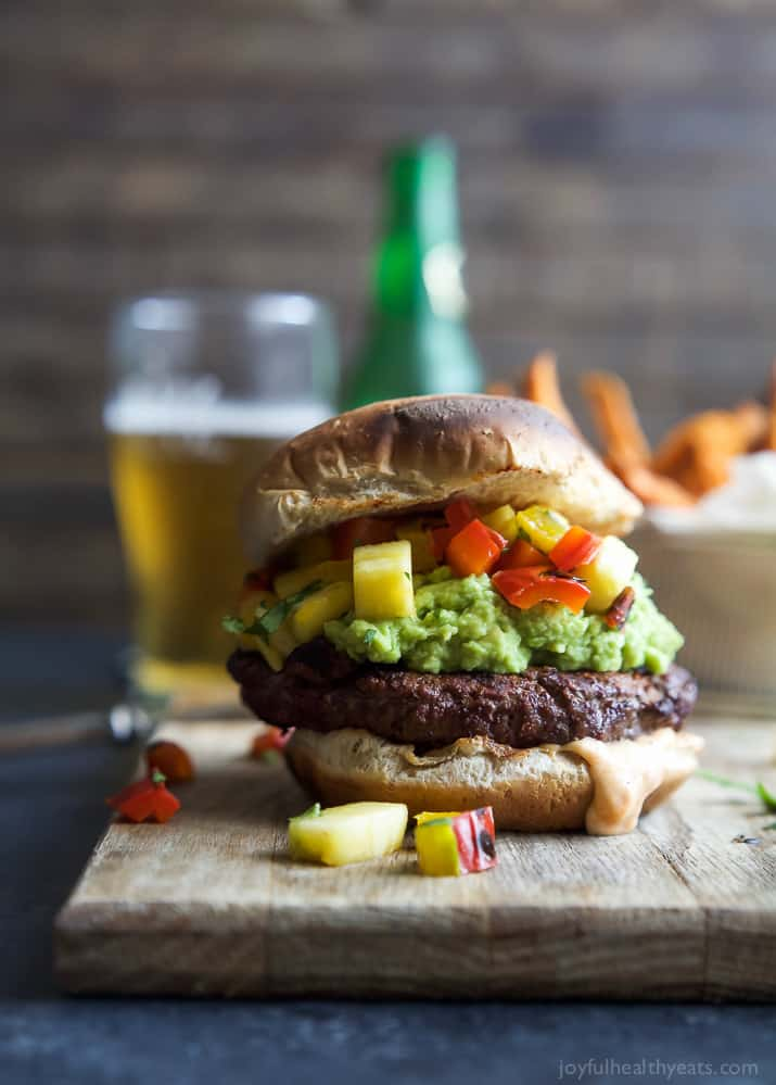 Smoky Avocado Burger With Pineapple Pepper Relish