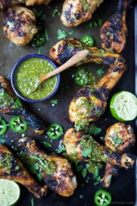 Image of Spice Rub Grilled Chicken with Chimichurri